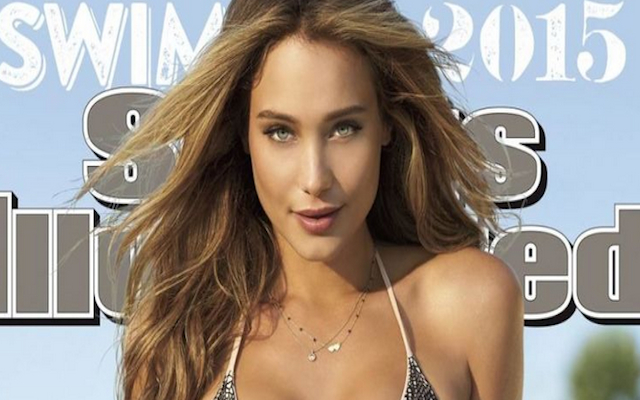 (Images) Sports Illustrated unveil Hannah Davis as its 2015 swimsuit edition covergirl