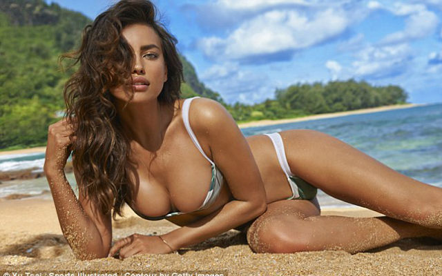 (Images) What have you done, Ronaldo? Stunning Irina Shayk strips down in stunning Sports Illustrated shoot