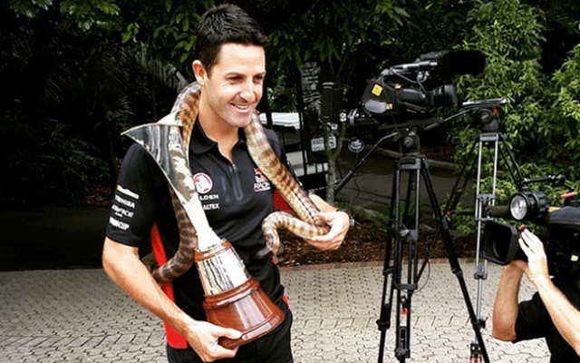 (Images) Six-time V8 Supercar champion Jamie Whincup bitten by snake!