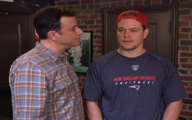 (Video) DeflateGate update XLIX: Celebrities pretend to be Patriots Locker Room Guy on Jimmy Kimmel