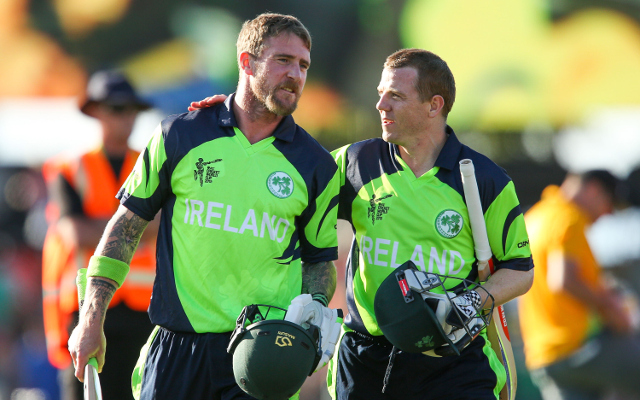 (Video) Shock as Ireland beat West Indies in 2015 Cricket World Cup as Mooney hits winning runs yet again