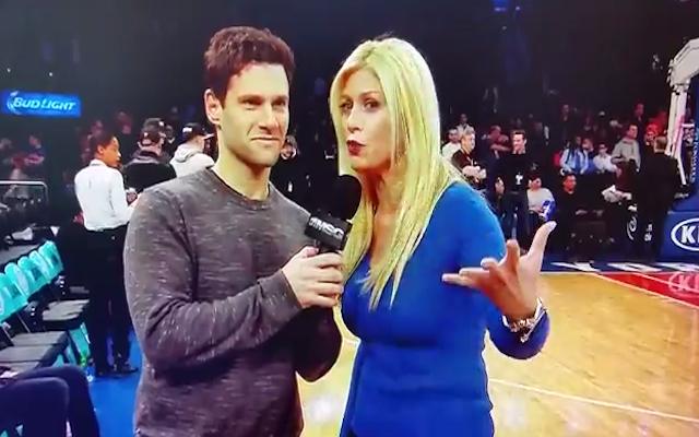 (Video) Awkward! 'Hangover' star Justin Bartha flirts with New York Knicks sideline reporter Jill Martin