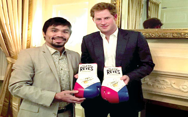 Manny Pacquiao will have Prince Harry in his corner for fight with Floyd Mayweather
