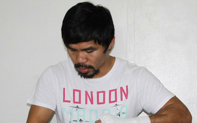 (Images) Manny Pacquiao looks deadly in training ahead of Floyd Mayweather fight