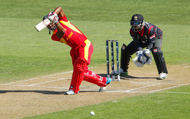 (Video) Oh Dear! Zimbabwe batsman Regis Chakabva dismissed in comical circumstances at Cricket World Cup