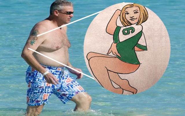 (Image) Buffalo Bills head coach Rex Ryan gets Jets tattoo colored Bills blue
