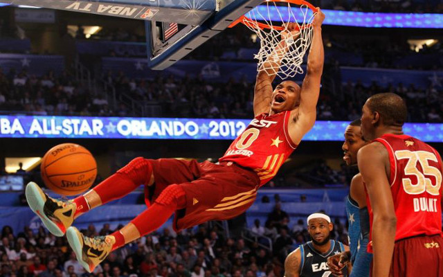 NBA All-Star Game update: Russell Westbrook sets record with 27 first half points as West leads 83-82