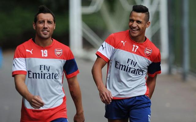 Alexis Sanchez hails Santi Cazorla as the best player at Arsenal