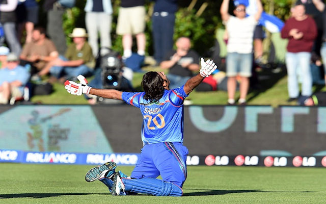 (Video) Thriller! Afghanistan beat Scotland for first ever Cricket World Cup victory thanks to thrilling finish!