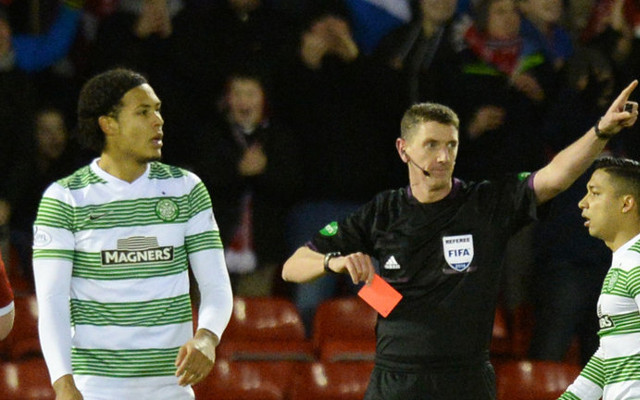 (Video) Celtic ROBBED? Shocking refereeing as Virgil van Dijk is given his marching orders against Inter Milan