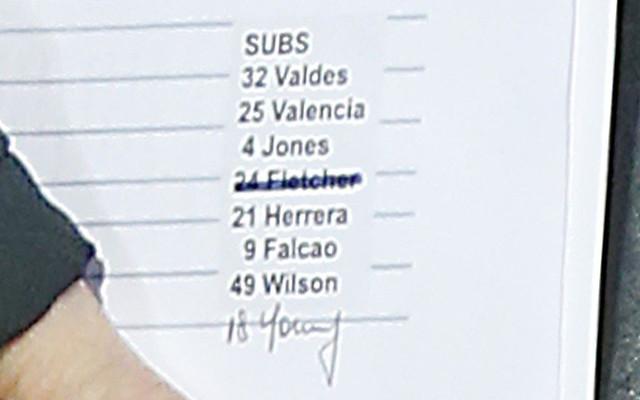 Oops! Louis van Gaal almost names Darren Fletcher as sub on Man United bench