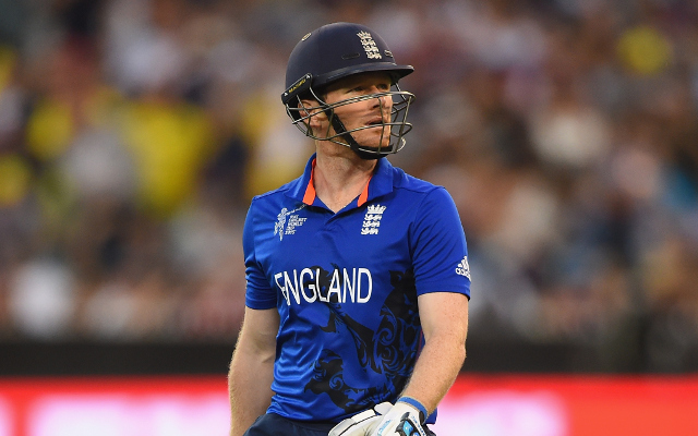 (Video) Cricket World Cup 2015: Eoin Morgan fails with the bat AGAIN as England crumble against New Zealand