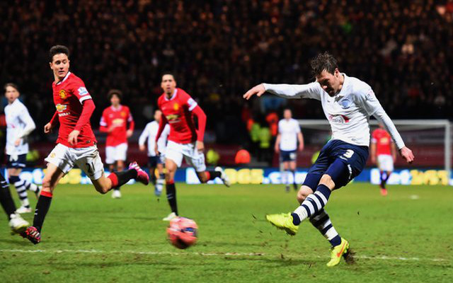 Preston's FA Cup goalscorer against Manchester United gets strange £1 bonus