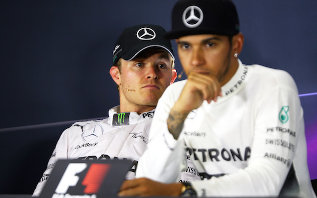 Nico Rosberg's uncomfortable exchange with Lewis Hamilton after claims German blocked teammate