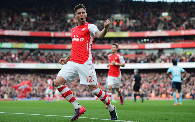 Arsenal predicted XI vs Manchester United – Olivier Giroud keeps his place up top
