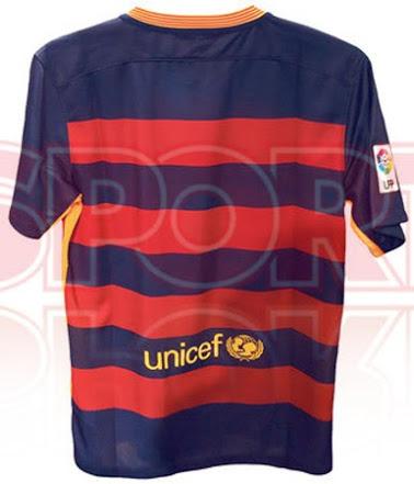 Barceland home shirt 15-16