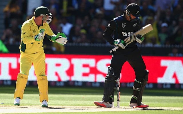 (Video) Australia v New Zealand: Brad Haddin slammed on social media following Martin Guptill send-off