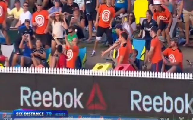 (Video) Cricket World Cup: Not again! Another fan blows chance at share in $1 million during New Zealand match!