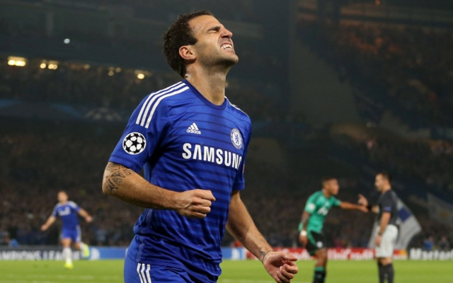 Angry Chelsea fans rage on Twitter after Cesc Fabregas is overlooked for PFA Player of the Year award