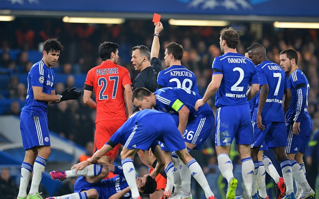 (Video) Chelsea v PSG clash dominated by FOUR ugly incidents & poor refereeing