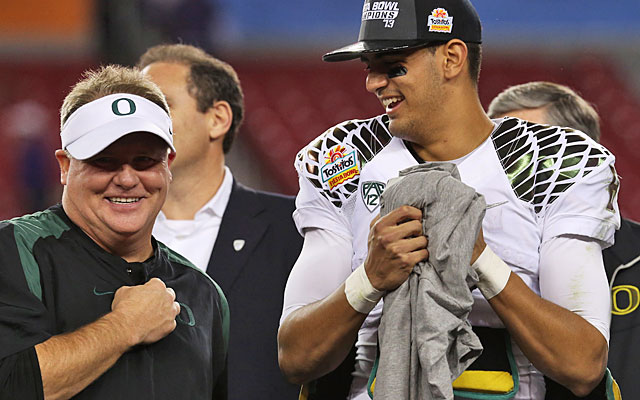 Philadelphia Eagles head coach Chip Kelly denies wanting QB Marcus Mariota