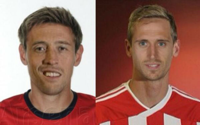 (Image) Peter Crouch finally admits he looks like Arsenal star Nacho Monreal