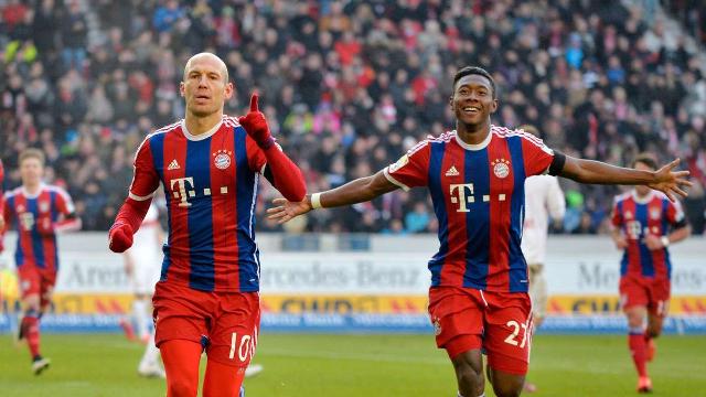 David Alaba Arjen Robben Bayern Munich