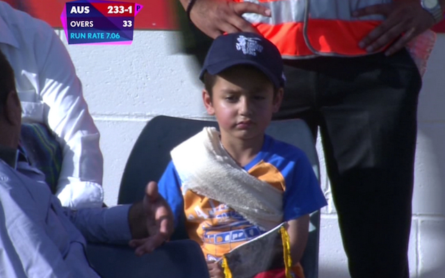 (Video) Cricket World Cup 2015: Ouch! Australia batsman David Warner hits young Afghanistan fan with huge six