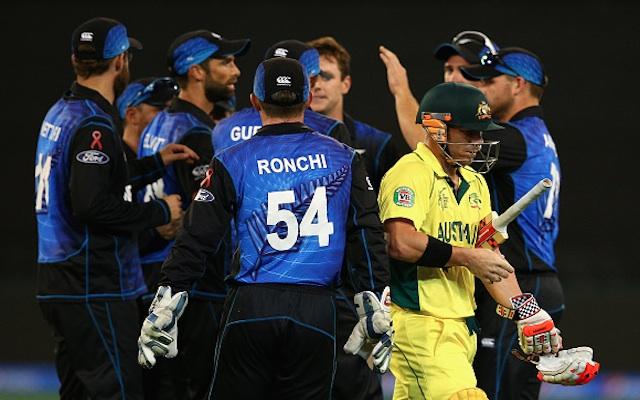 (Video) Australia v New Zealand: Black Caps claim big wicket as David Warner falls for 45
