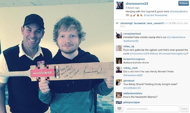 Ed Sheeran and Shane Warne