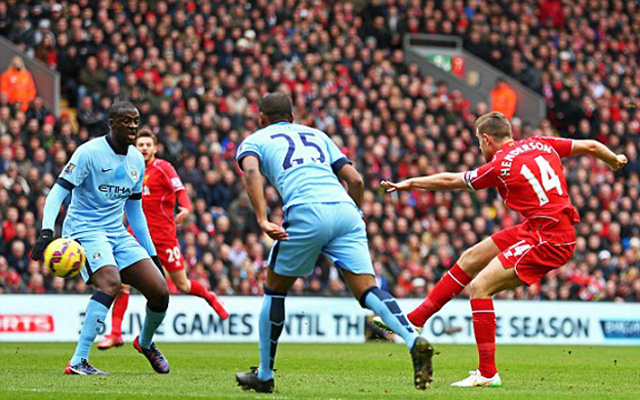 (Video) Goal of the season? Watch Jordan Henderson's brilliant strike for Liverpool vs Manchester City