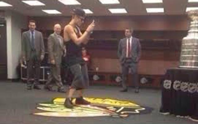 Justin Bieber Blackhawks