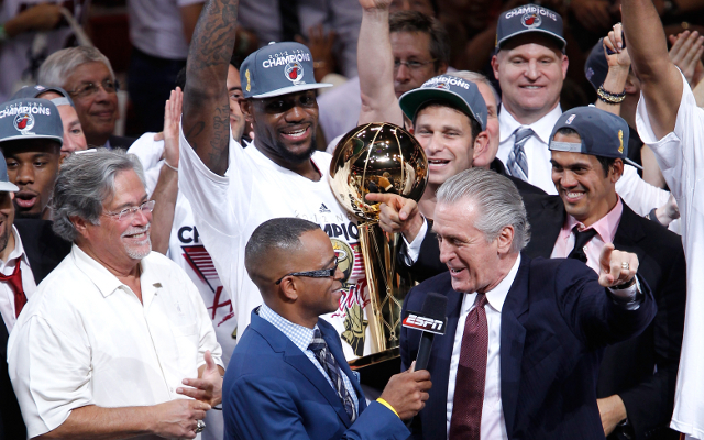 "Pat Riley takes indirect shot at LeBron James with ""no more smiling faces with hidden agendas"" comment"