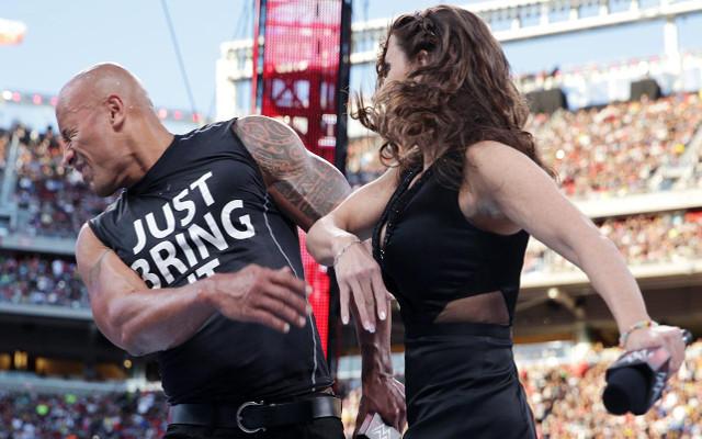 McMahon slaps The Rock