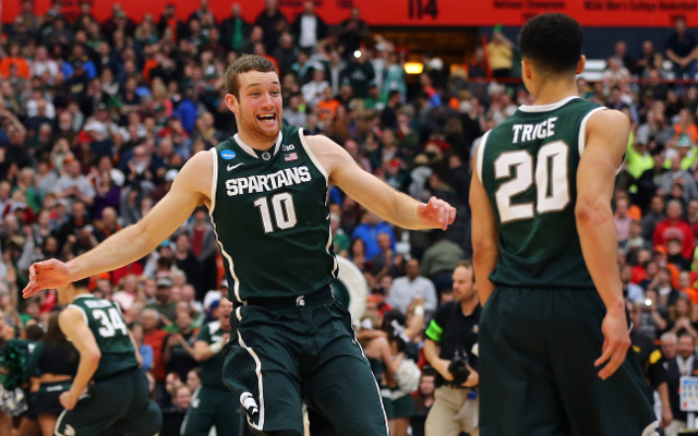 (Video) NCAA March Madness 2015: Michigan State defeats Louisville in overtime to reach Final Four