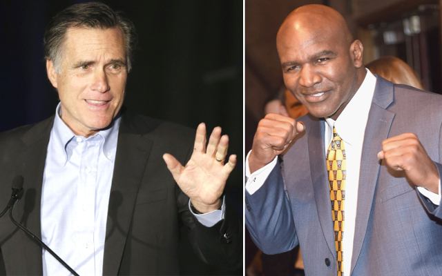 Former U.S. Presidential candidate Mitt Romney to fight Evander Hollyfield in charity boxing match