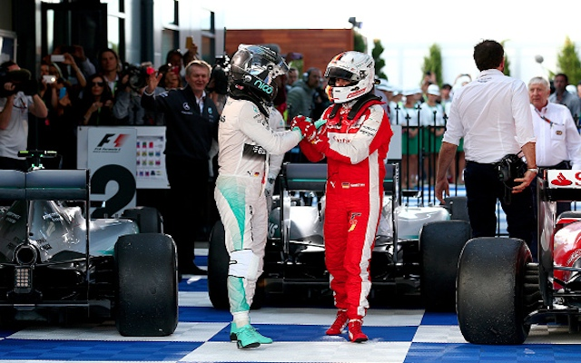 Cheeky! Nico Rosberg invites Sebastian Vettel into Mercedes garage following spat