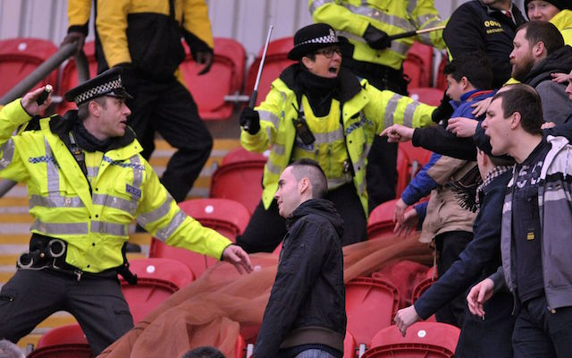 (Image Gallery) Shocking images of crowd violence at Rotherham vs Millwall Championship tie