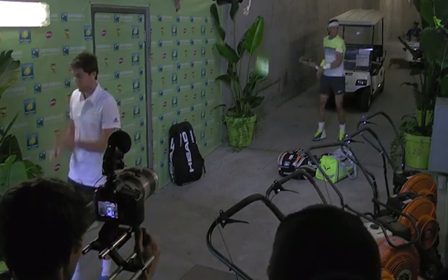 (Video) Whack! Rafael Nadal annihilates pot plant inside Indian Wells player tunnel