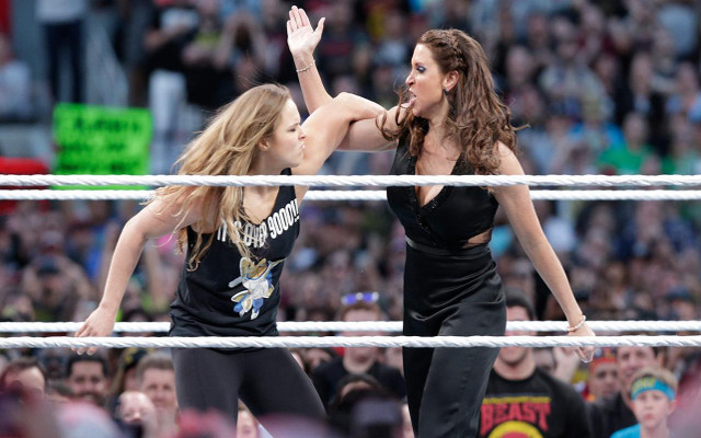 (Images) How Ronda Rousey and The Rock took over WrestleMania 31 ring