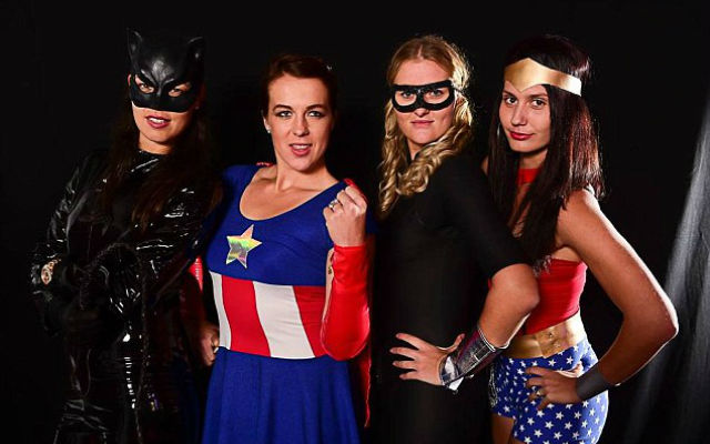 (Images) Ana Ivanovic joins fellow tennis stars in fancy dress: Serbian stunner poses in leather Cat Woman costume