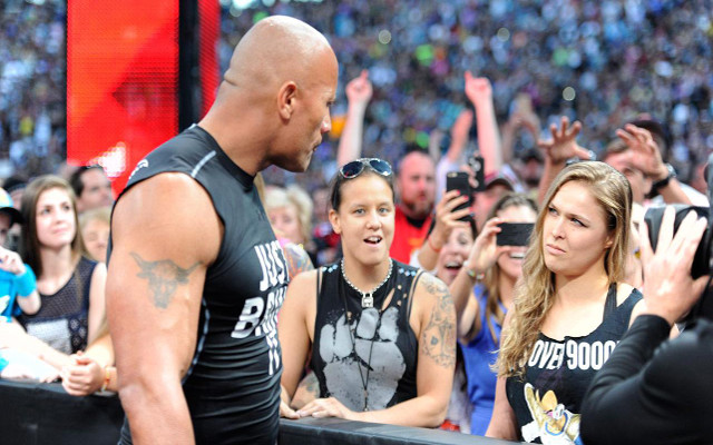 The Rock Ronda Rousey a