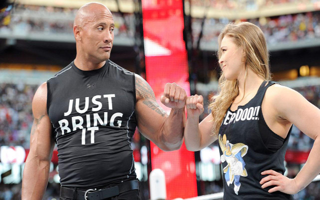 UFC star Ronda Rousey says she would win a fight with The Rock