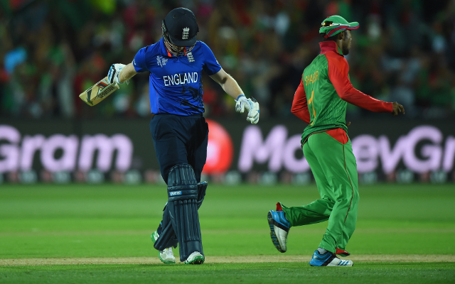 (Video) DISGRACE! Highlights as England crash out of World Cup to Bangladesh