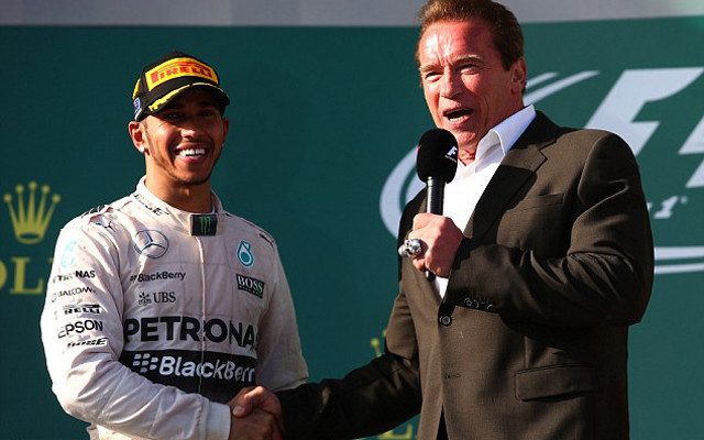 (Image) Lewis Hamilton hopes to toast Australian GP victory with Arnold Schwarzenegger
