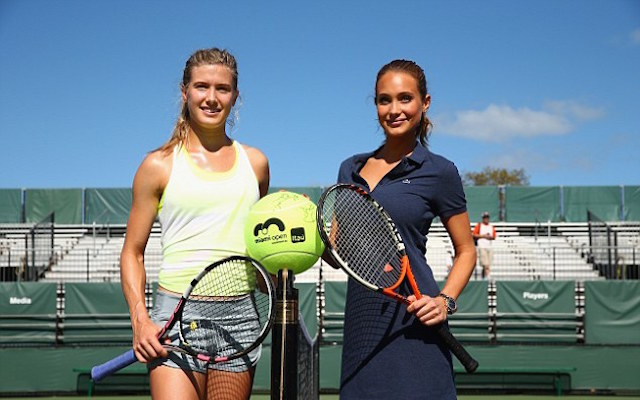 (Images) Tennis babe Eugenie Bouchard relaxes with Sports Illustrated model Hannah Ward