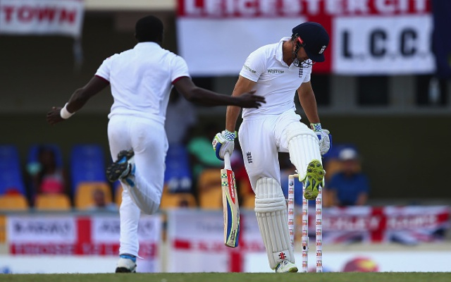 West Indies v England: Alastair Cook's side take control of first Test despite another top-order collapse