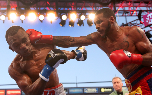 (Video) Fight at Anthony Dirrell vs Badou Jack weigh-in: Brawl breaks out as pair clash