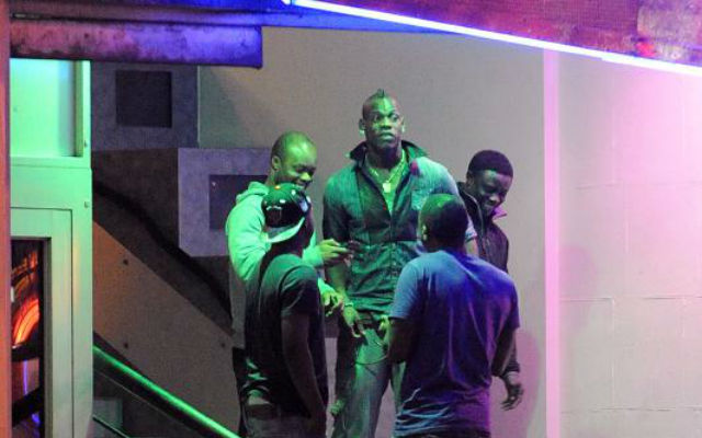 Liverpool striker Mario Balotelli spotted partying in nightclub after ruling himself out of Arsenal clash with injury