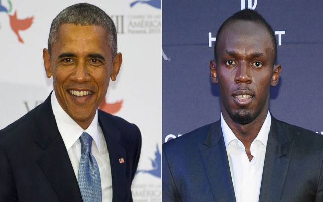 (Images) Usain Bolt and Barack Obama pose together during President's Jamaica visit
